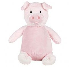 Personalised Pink Pig Cubbie Teddy